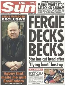 Fergie Decks Becks