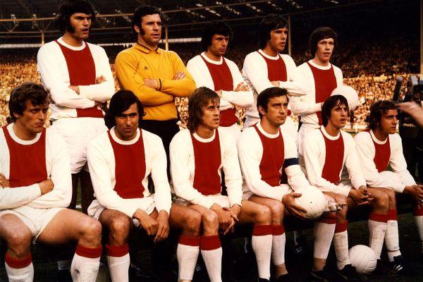 La formazione dell'Ajax nella stagione 1971-1972