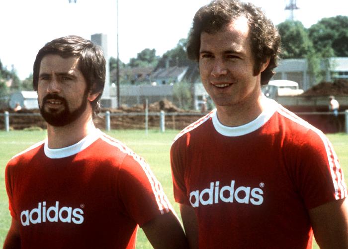 Gerd Muller e Franz Beckenbauer.