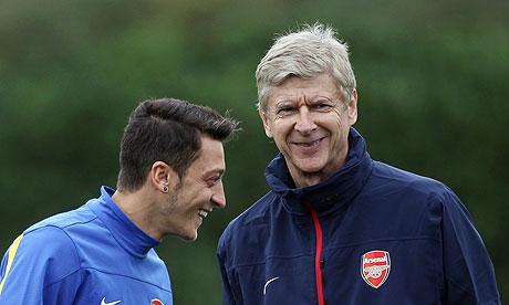 Arsene Wenger Mesut Ozil