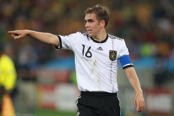 Il capitano della Germania Philipp Lahm.Contro l'Austria, venerdì sera, toccherà quota 100 in Nazionale.