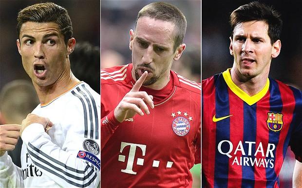 Ronaldo-Ribery-Messi