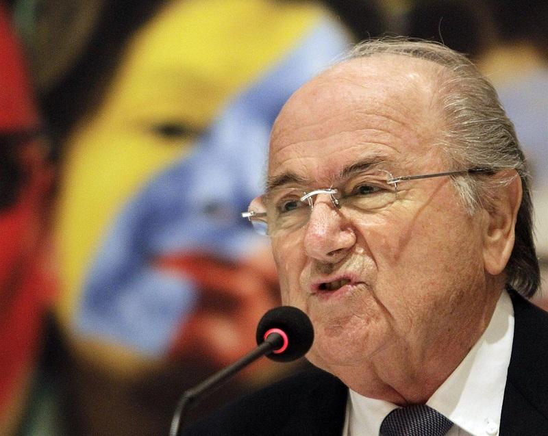 El Presidente De La FIFA Joseph Blatter