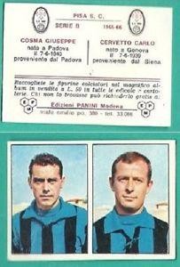 La coppia gol della stagione 1964-65: Cosma-Cervetto. Entrambi capocannonieri del raggruppamento di Serie C.