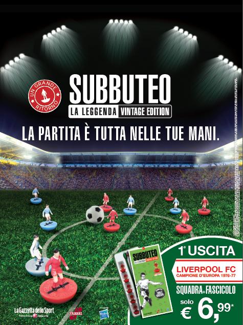 La Gazzetta dello Sport presenta Subbuteo la leggenda!