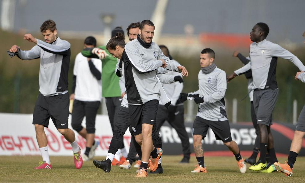 La Juventus al lavoro a Vinovo.