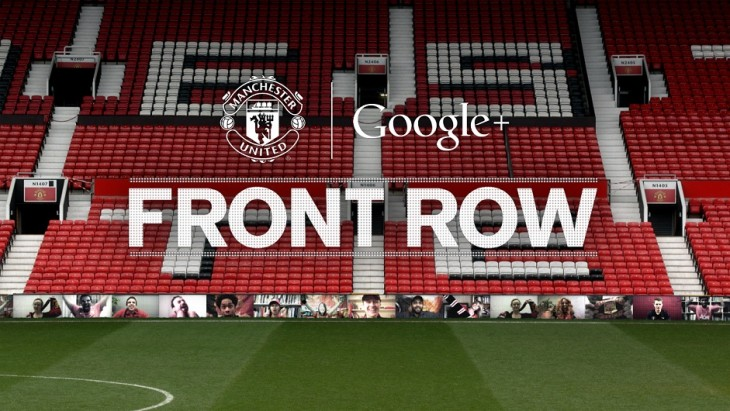 front row manchester united