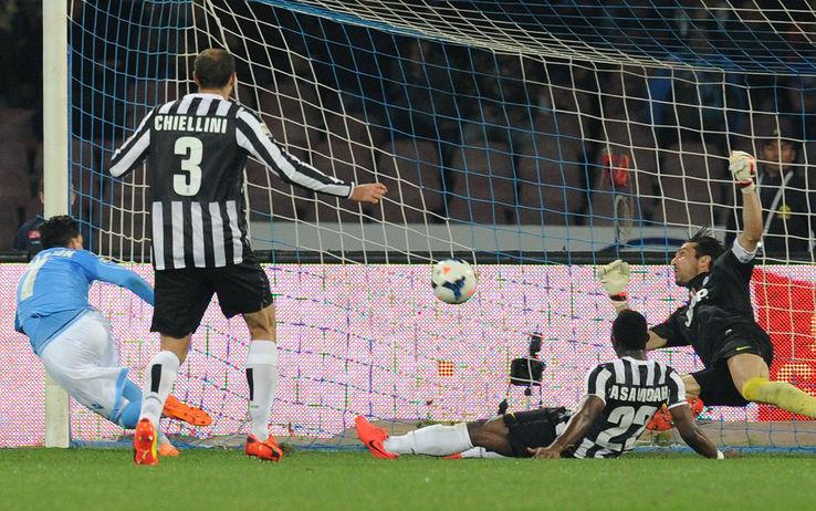 Il gol di Callejon che ha steso la Juventus domenica scorsa.