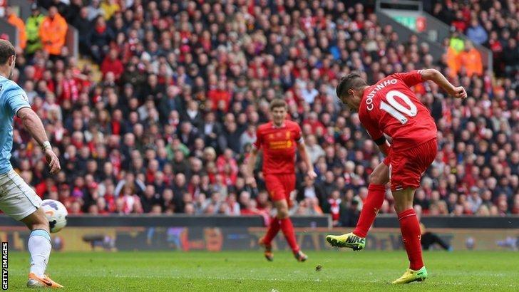 Il gol decisivo di Philippe Coutinho.