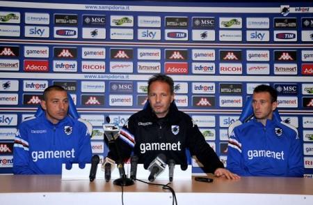 Sampdoria/Conferenza stampa Gastaldello-Palombo