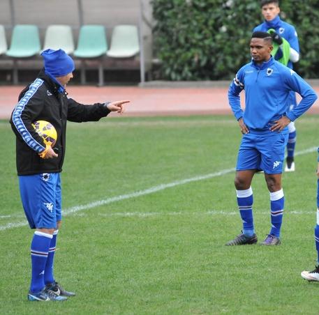 Samuel Eto'o first training session with Sampdoria