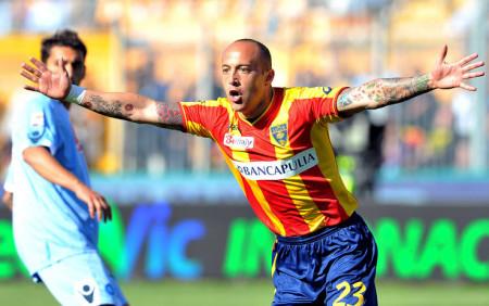 Javier Ernesto Chevanton, miglior marcatore del Lecce in Serie A in compagnia di Mirko Vucinic.