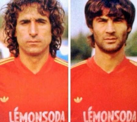 """I mai dimenticati Michele Lorusso e Ciro Pezzella, scomparsi in un incidente stradale il 2 dicembre 1983 mentre si recavano a Bari: avrebbero dovuto prendere il treno per raggiungere Varese dove era in programma la sfida del """"loro"""" Lecce."""