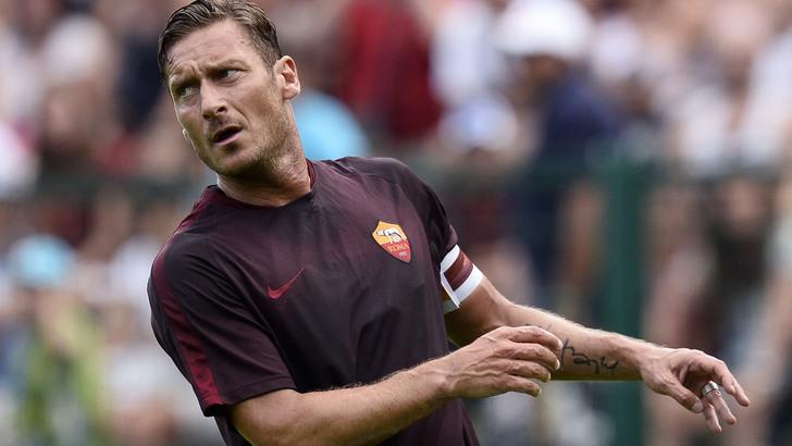 Db Pinzolo (Tn) 11/07/2015 - amichevole / Roma-Gyirmot Fc Gyor / foto Daniele Buffa/Image Sport nella foto: Francesco Totti