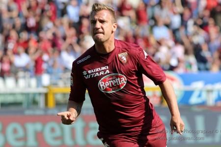 Sport Calcio Serie A: Torino-Roma (Foto Paolo Pavan) Nella foto:esulta Maxi Lopex per il pari