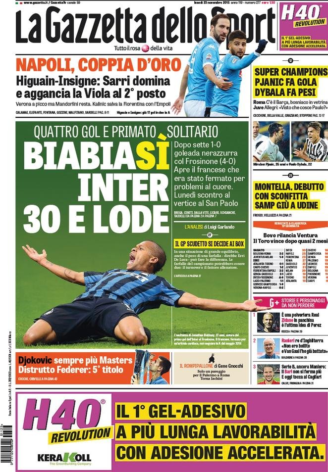 rassegna stampa italia inter inarrestabile napoli in scia contrataque. Black Bedroom Furniture Sets. Home Design Ideas