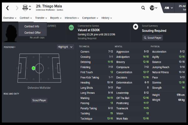 thiago maia-football manager