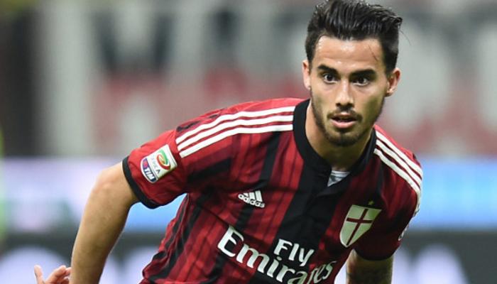 Suso con la casacca del Milan, Serie A