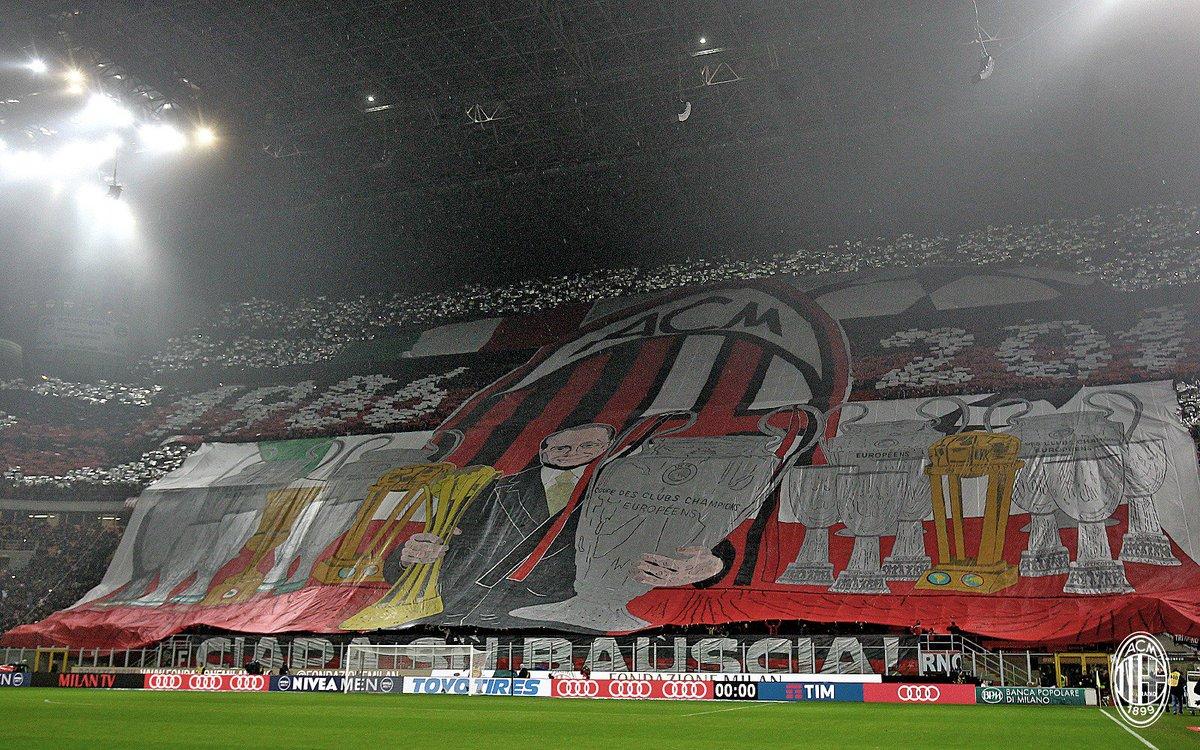 Milan coreografia Berlusconi