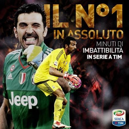 Buffon record imbattibilità