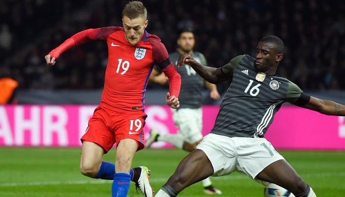 Jamie Vardy Germania-Inghilterra - Fonte England Twitter ufficiale