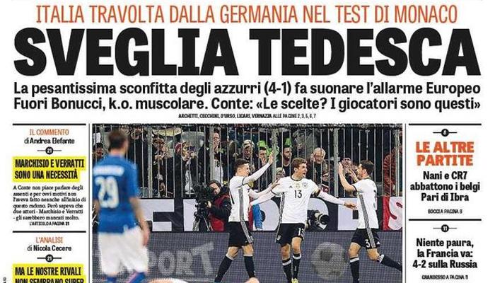 Prima pagina Gazzetta dello Sport 30 Marzo 2016