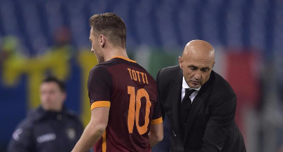 Francesco Totti e Luciano Spalletti. Fonte Sportmediaset.it