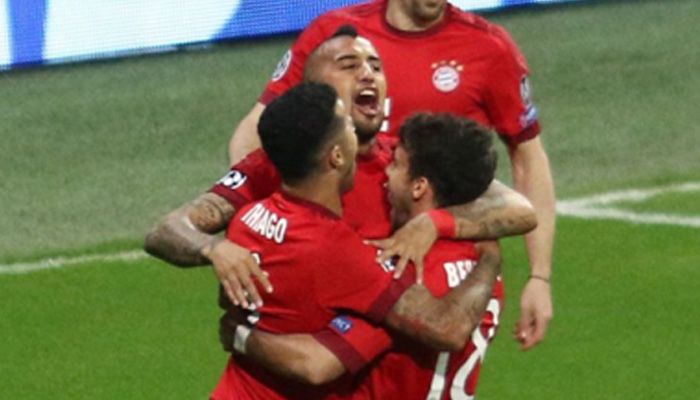 Arturo Vidal, Bayern Monaco-Benfica - Fonte ufficiale Twitter Bayern Monaco.