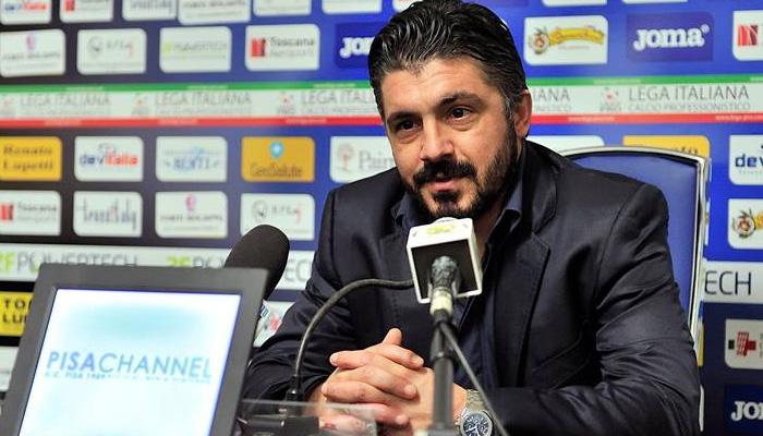 Gennaro Gattuso, Pisa - Fonte Twitter Pisa AC