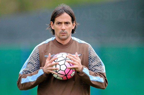 Simone Inzaghi in allenamento, Juventus-Lazio - Foto Twitter @OfficialSSLazio