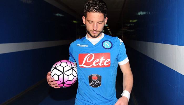 Dries Mertens, Napoli-Bologna - Fonte Twitter account ufficiale SSC Napoli