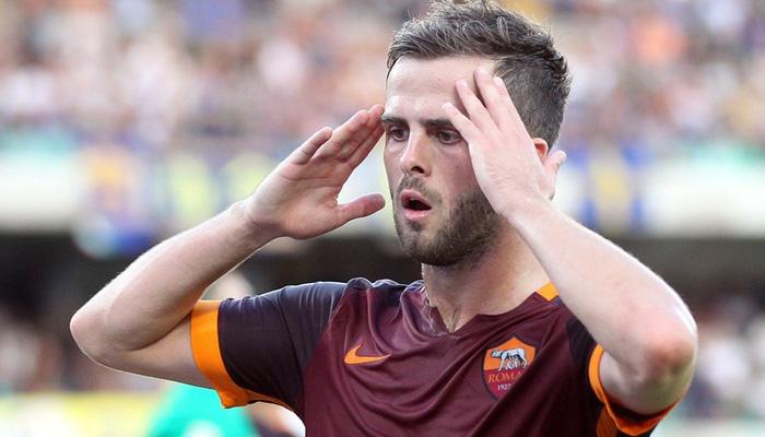 Miralem Pjanic, Roma - Fonte Twitter ufficiale AS Roma