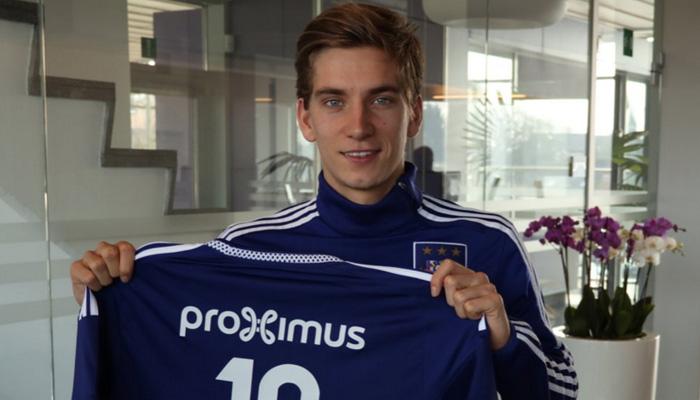 Dennis Praet, Anderlecht - Fonte Twitter account ufficiale Dennis Praet