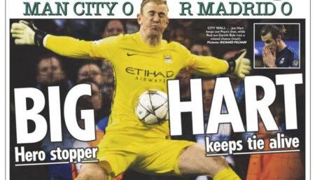Joe Hart, Manchester City - Rassegna stampa