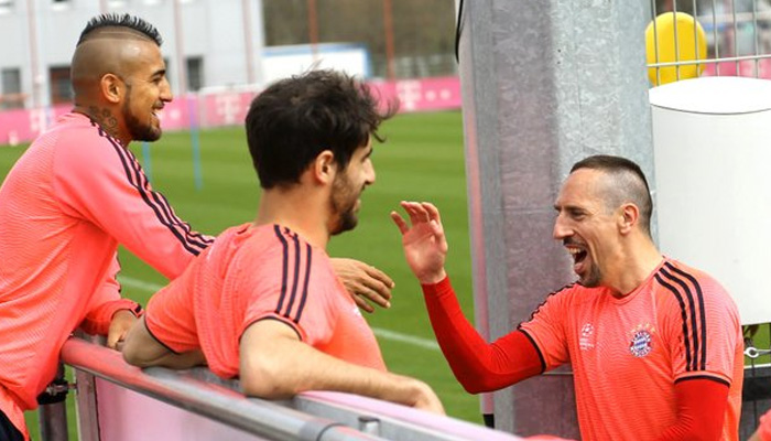 Frank Ribery, Bayern Monaco-Benfica - Fonte Twitter Ufficiale Bayern Monaco