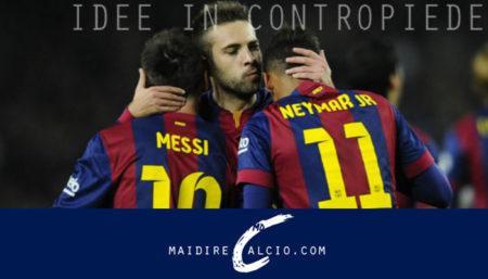 Jordi Alba, Messi e Neymar - Barcellona-Siviglia Coppa del Re