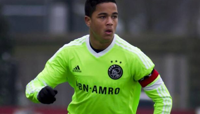 Justin Kluivert, Ajax - Fonte account twitter ufficiale Justin Kluivert