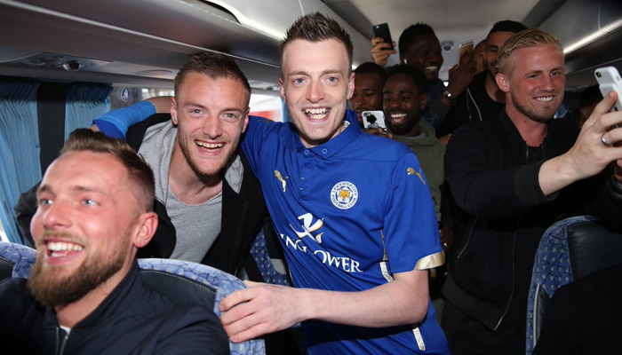 Jamie Vardy, Leicester - Fonte account Twitter Leicester City