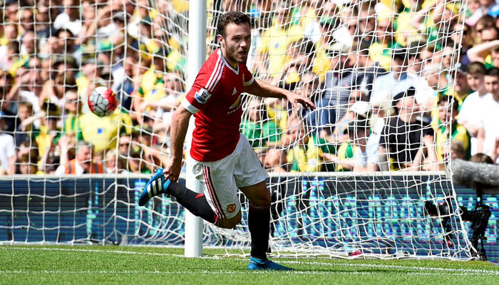 Juan Mata, West Ham-Manchester United - Fonte account Twitter ufficiale Manchester United