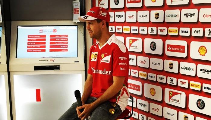 Sebastien Vetel, Ferrari - Fonte account ufficiale Twitter Scuderia Ferrari