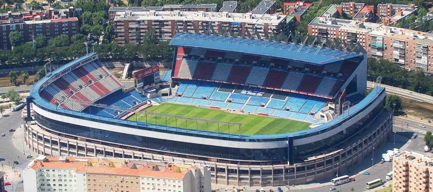 Veduta aerea dell'impianto dell'Atletico Madrid - FOTO: Footballtripper.com