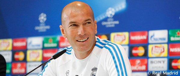 zidane real madrid - Fonte: Twitter @realmadrid