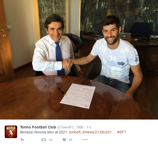 Fonte: Official Twitter page of Torino Football Club