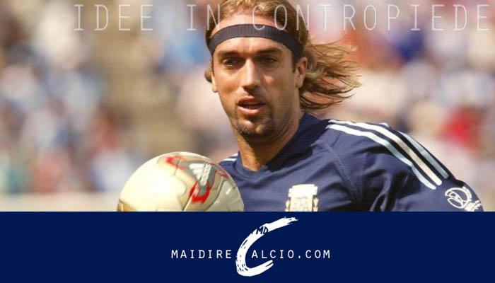 Gabriel Omar Batistuta con la casacca dell'Argentina