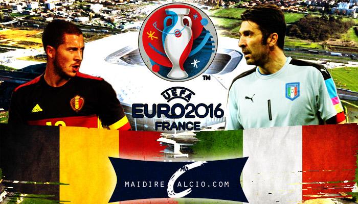 Le formazioni ufficiali di Belgio-Italia