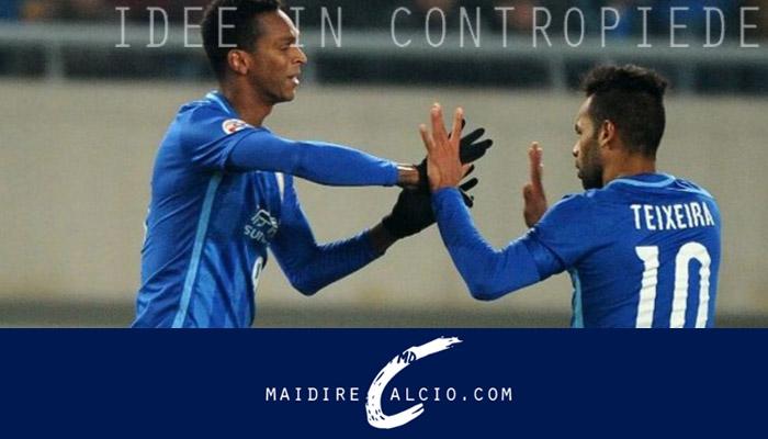 Alex Teixeira e Ramires nel mirino dell'Inter, Suning FC