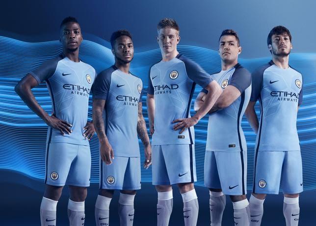 La nuova divisa HOME del Manchester City per la stagione 2016/2017