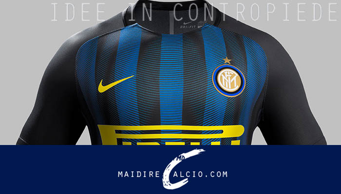 La nuova maglia dell'Inter per la stagione 2016/17