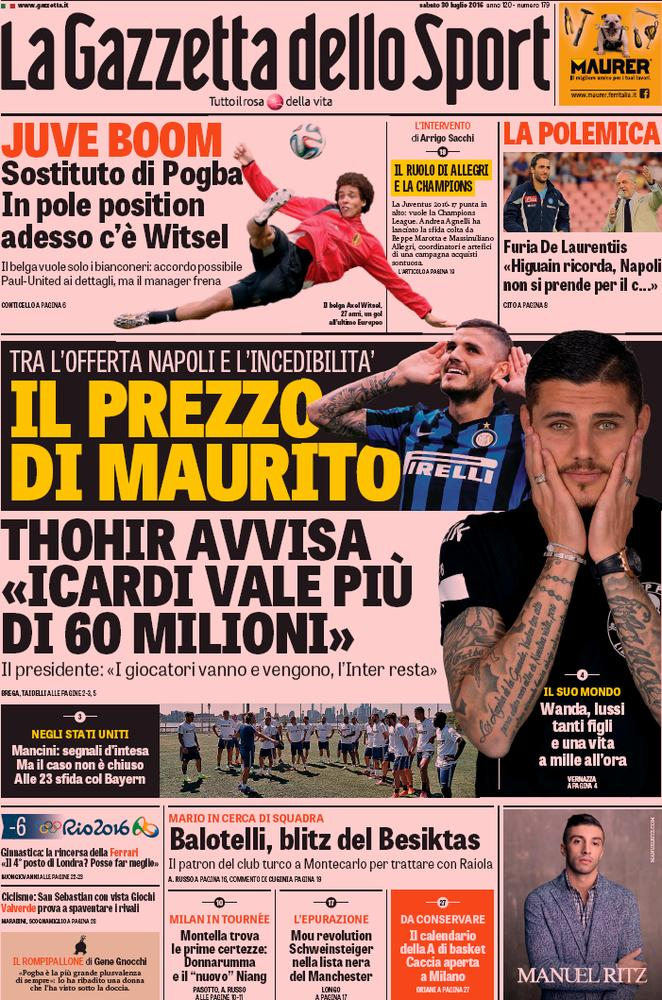 rassegna stampa italiana il futuro di mauro icardi contrataque. Black Bedroom Furniture Sets. Home Design Ideas