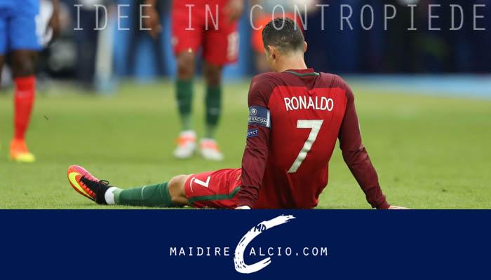 L'infortunio di Cristiano Ronaldo nel corso di Portogallo-Francia - Euro 2016